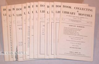 BOOK COLLECTING & LIBRARY MONTHLY