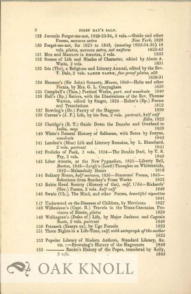 CATALOGUE OF VALUABLE BOOKS FROM THE LIBRARY OF A GENTLEMAN