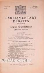 PARLIAMENTARY DEBATES HOUSE OF COMMONS OFFICIAL REPORT