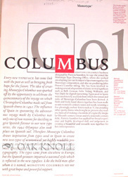 COLUMBUS. Monotype