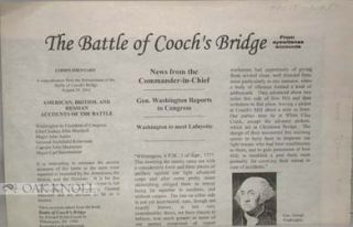 BATTLE OF COOCH'S BRIDGE, FROM EYEWITENSS (sic) ACCOUNTS