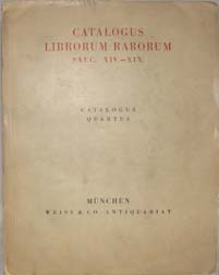 CATALOGUS LIBRORUM RARORUM SAEC. XIV.-XIX. (from wrapper)
