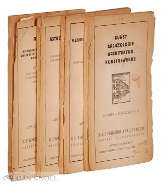 Four catalogues from Koehlers Antiquarium