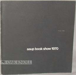 AAUP BOOK SHOW 1970