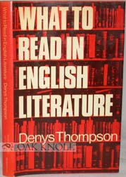 WHAT TO READ IN ENGLISH LITERATURE