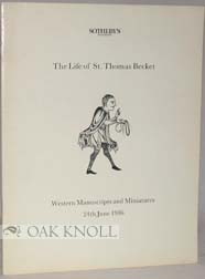 THE LIFE OF ST. THOMAS BECKET WESTERN MANUSCRIPTS AND MINIATURES