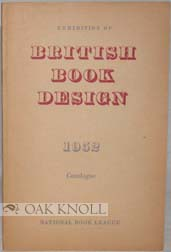 EXHIBITION OF BRITISH BOOK DESIGN 1952. Harry Carter.