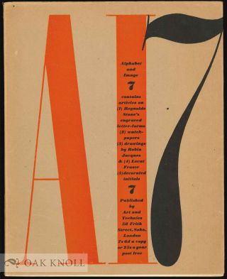 ALPHABET AND IMAGE 7: A QUARTERLY MAGAZINE OF TYPOGRAPHY