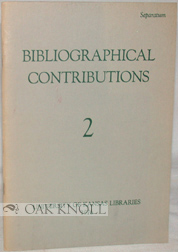 BIBLIOGRAPHICAL CONTRIBUTIONS 2