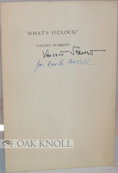 WHAT'S O'CLOCK? Vincent Starrett