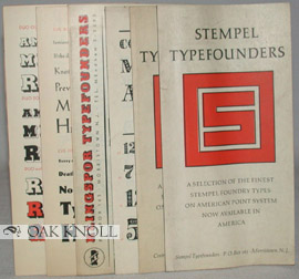 STEMPEL TYPEFOUNDERS, A SELECTION OF THE FINEST STEMPEL FOUNDRY TYPES and KLINGSPOR FOUNDRY TYPES
