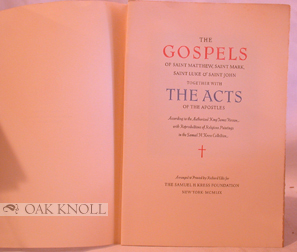 Prospectus for THE GOSPELS OF SAINT MATTHEW, SAINT MARK, SAINT LUKE & SAINT JOHN TOGETHER WITH THE ACTS OF THE APOSTLES