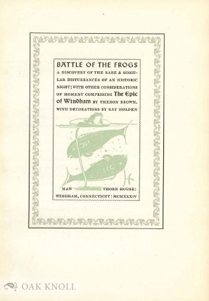 BATTLE OF THE FROGS.