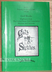 GOLF BOOKS, DUPLICATES FROM THE UNITED STATES GOLF ASSOCIATION MUSEUM AND LIBRARY