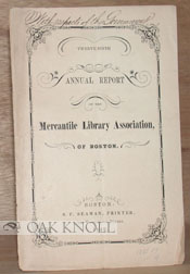 TWENTY-NINTH ANNUAL REPORT OF THE MERCANTILE LIBRARY ASSOCIATION, OF BOSTON