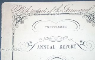 TWENTY-NINTH ANNUAL REPORT OF THE MERCANTILE LIBRARY ASSOCIATION, OF BOSTON.