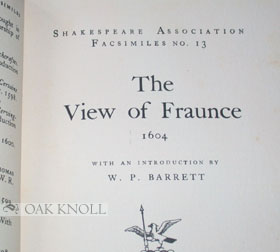 THE VIEW OF FRAUNCE 1604 .
