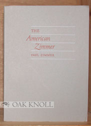 THE AMERICAN ZIMMER. Paul Zimmer