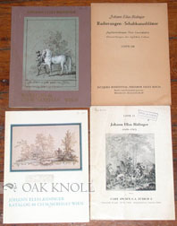 Four Catalogues of Works by Johann Elias Ridinger