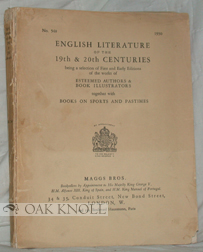 ENGLISH LITERATURE OF THE 19TH & 20TH CENTURIES. 548