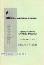 LOWER DELAWARE GRIDIRON CLUB INC. AWARDS BANQUET