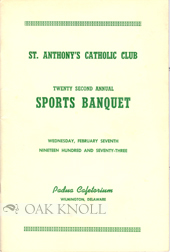 ST. ANTHONY'S CATHOLIC CLUB, ... SPORTS BANQUET.