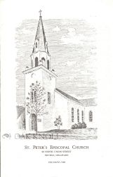 ST. PETER'S EPISCOPAL CHURCH, 22 NORTH UNION STREET, SMYRNA, DELAWARE. FOUNDED 1740