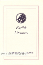 ENGLISH LITERATURE. John Howell