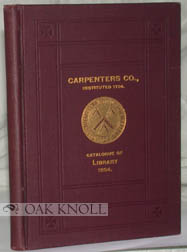 FINDING LIST OF THE LIBRARY CARPENTERS' COMPANY OF THE CITY AND COUNTY OF PHILA.