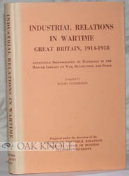 INDUSTRIAL RELATIONS IN WARTIME