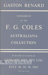 F.G. COLES AUSTRALIANA COLLECTION CATALOGUE. Gaston Renard