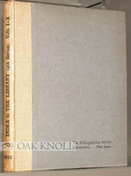 THE LIBRARY: A QUARTERLY REVIEW OF BIBLIOGRAPHY. A. W. Pollard