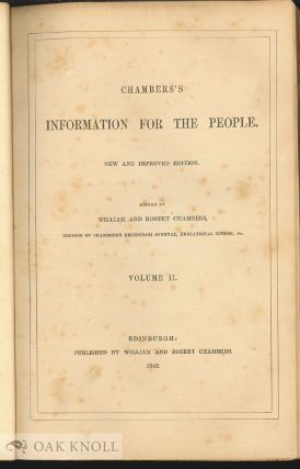 CHAMBERS'S INFORMATION FOR THE PEOPLE.