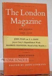 LONDON MAGAZINE, A MONTHLY REVIEW OF LITERATURE
