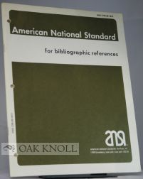 AMERICAN NATIONAL STANDARD FOR BIBLIOGRAPHIC REFERENCE.