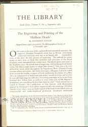 """THE ENGRAVING AND PRINTING OF THE `HOLBEIN HEADS'."""