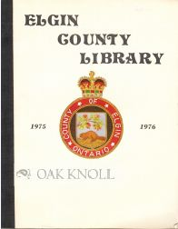 ELGIN COUNTY LIBRARY BOARD ANNUAL REPORT, 1975-1976