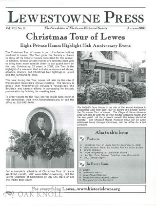 LEWESTOWNE PRESS, THE NEWSLETTER OF THE LEWES HISTORICAL SOCIETY