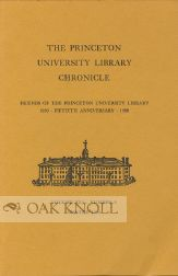 THE PRINCETON UNIVERSITY LIBRARY CHRONICLE