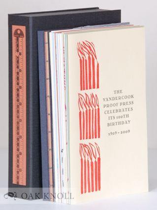 THE VANDERCOOK BOOK: A PORTFOLIO OF SPECIMENS FROM CONTEMPORARY MASTERS. Roni Gross, Barbara Henry