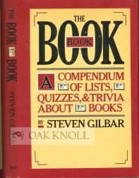 THE BOOK BOOK. Steven Gilbar