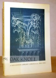 A HOUGHTON LIBRARY CHRONICLE 1942-1992.