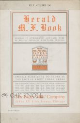HERALD M.F. BOOK, ADAPTED TO LITHOGRAPHIC AND LABEL WORK AS WELL AS ORDINARY BOOK PAPER PURPOSES....