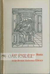 A CATALOGUE OF BOOKS IN THE BRISTOL REFERENCE LIBRARY WHICH WERE PRINTED ABROAD IN LANGUAGES...