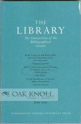 """THE USE OF ROYAL LICENCES FOR PRINTING IN ENGLAND, 1695-1760: A BIBLIOGRAPHY."""