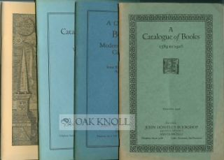Four catalogues of Books from John Howell's Bookshop