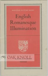 ENGLISH ROMANESQUE ILLUMINATION. T. S. R. Boase, preface