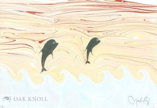 UNDER THE SURFACE; WITH TEN ORIGINAL SAMPLES OF MARBLED PICTURES OF THE UNDERWATER WORLD'S NATURE.