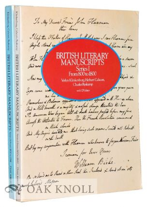 BRITISH LITERARY MANUSCRIPTS SERIES I, FROM 800-1800 AND SERIES II, FROM 1800-1914