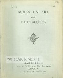 BOOKS ON ART AND ALLIED SUBJECTS